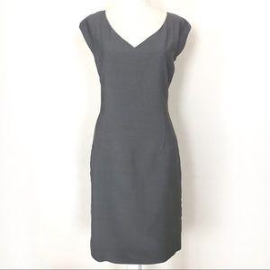 Emanuel Ungaro Cap Sleeve Grey Shift Dress